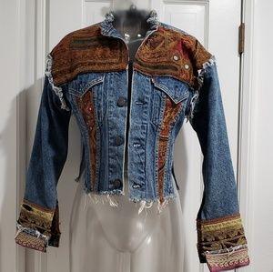 Vintage Nancy Heller One-of-a-kind Denim Jacket